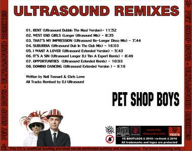 YS Bootlegs - YS257A PET SHOP BOYS - Ultrasound Remixes